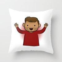 jesse pinkman Throw Pillows featuring Jesse Pinkman - Breaking Bad by Joe Bidmead