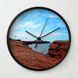 Cliffside Wind Turbines Wall Clock