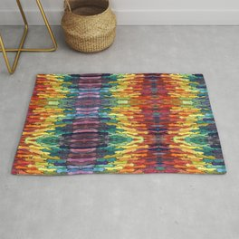 rainbow power Rug