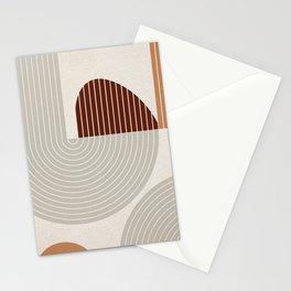 Mid Century Line Art VI Stationery Cards