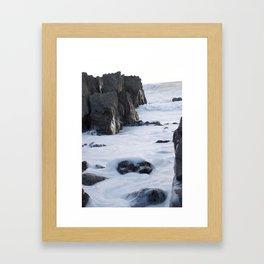 Foam off the Waves Framed Art Print