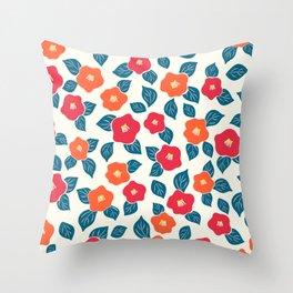 Camellia simplified Throw Pillow