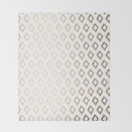 Gold Diamond Design II Throw Blanket