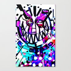 smiley face, Applying all the T's Canvas Print