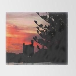 Sunrise at Port of Portland Throw Blanket