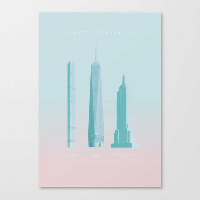 Towers of New York Canvas Print