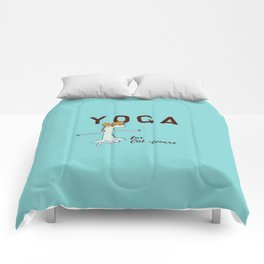 Yoga for Cat Lovers Comforters