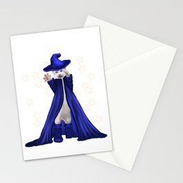 Cat Wizard with Stars Stationery Cards