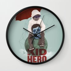 KID HERO Wall Clock