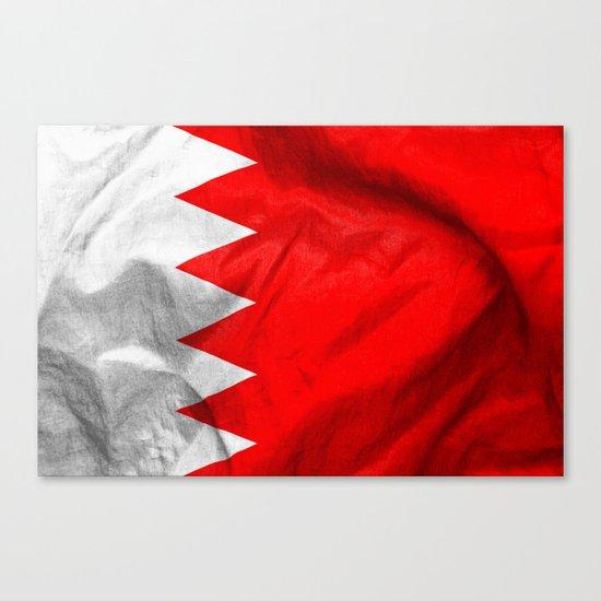 Bahrain Flag Canvas Print