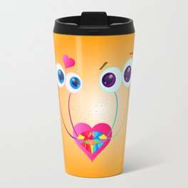 Garden Snail Love Travel Mug