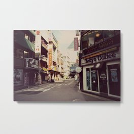 Korean Street Metal Print