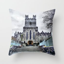 Limerick Catherdral Throw Pillow