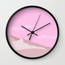 Sand Dunes // Full Moon Wall Clock