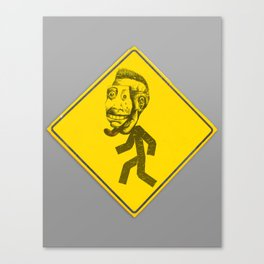 Mask man crossing Canvas Print