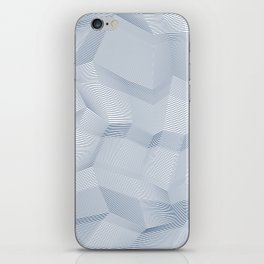 Facets - White and dark blue iPhone Skin