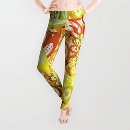 Fruity geometric abstract Leggings