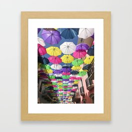 Umbrellas in Old San Juan Framed Art Print