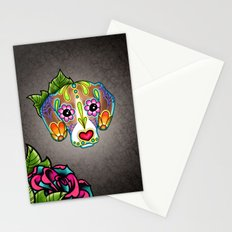 Day of the Dead Beagle Sugar Skull Dog Stationery Cards
