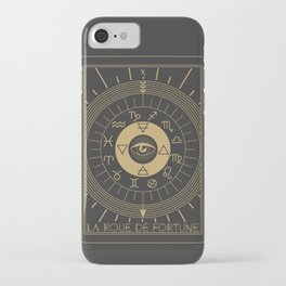 La Roue de Fortune or Wheel of Fortune Tarot iPhone Case