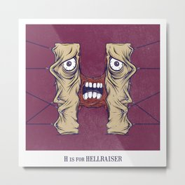 H is for Hellraiser Metal Print