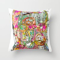 artsy Throw Pillows featuring Artsy Lines by Ingrid Padilla