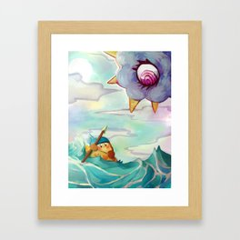 Bandana Waddle Dee and Kracko Framed Art Print