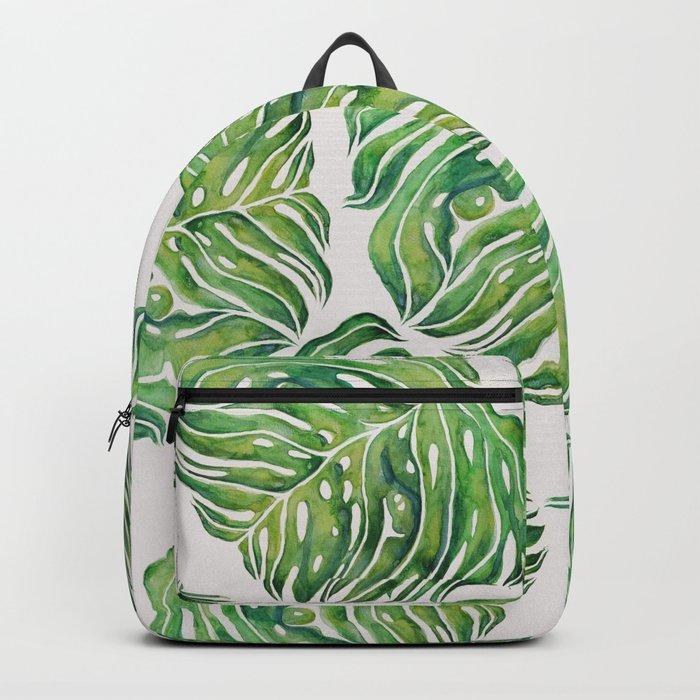 MONSTERA PUG WATERCOLOR Backpack