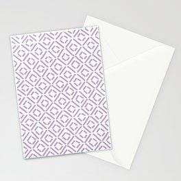 Lavender Diamond Pattern Stationery Cards