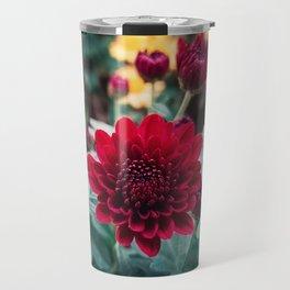 crimson chrysanthemum Travel Mug
