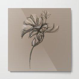 Sepia Sketch Metal Print