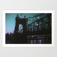 cincinnati Art Prints featuring Cincinnati by The Violet Noir
