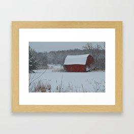 Zimmerman Red Barn Framed Art Print