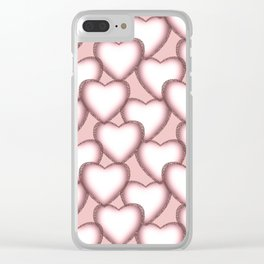 Hearts with lace trim. Clear iPhone Case