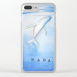 Nada - White Humpback Whale Clear iPhone Case
