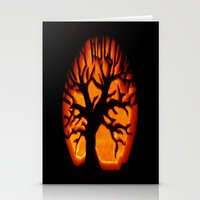 halloween Stationery Cards featuring HalloWeen by 2sweet4words Designs