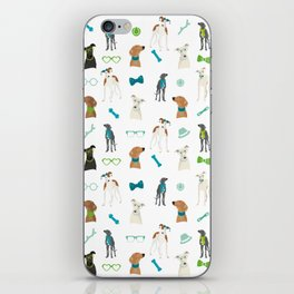 Sighthounds Pattern Green iPhone Skin