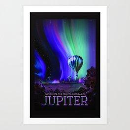 NASA Jupiter Planet Retro Poster Futuristic Best Quality Art Print