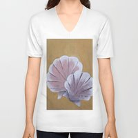 shells V-neck T-shirts featuring Shells by seekmynebula