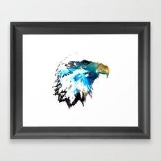 Space Bald Eagle Framed Art Print