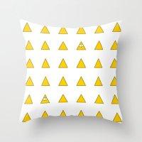 illuminati Throw Pillows featuring Illuminati by BatNeko