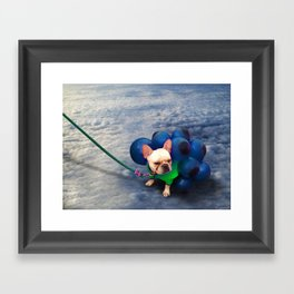 Up in the Clouds Framed Art Print