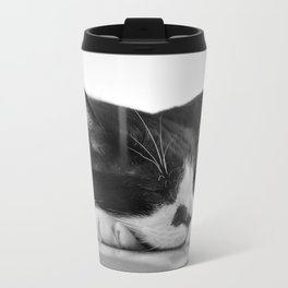 Sleeping Cat Metal Travel Mug
