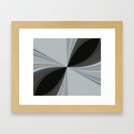 Brown and Grey Tones of Eucalyptus Swirl Pattern Framed Art Print