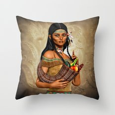 Sharing the Harvest Throw Pillow