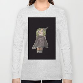 manga witch on hoodie and t-shirts and tank tops part of my DI Fashion Goth line Long Sleeve T-shirt
