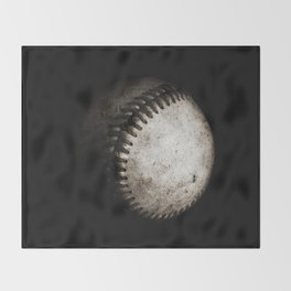 Battered Baseball in Black and White Decke