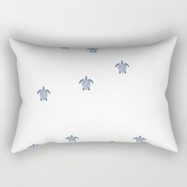 """The Race"" Baby Sea Turtle Minimal Art Design Rectangular Pillow"