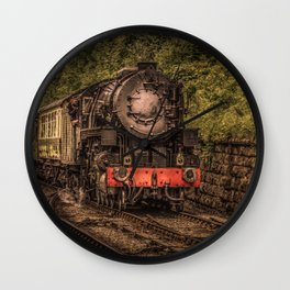 Express Train to Whitby Wall Clock