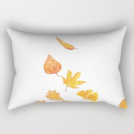 falling yellow leaves watercolor Rectangular Pillow